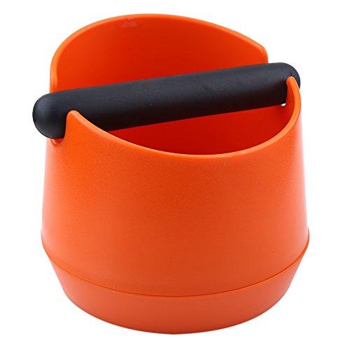 VBESTLIFE Expresso Knock Box à Café Boîte pour Le Marc de Café avec Barre en Caoutchouc Orange