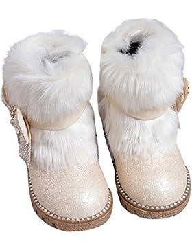 Baby Mädchen Schneestiefel Kleinkind Warm Halten Kaninchen Schneestiefel Weiche Sohlen Schuhe rutschen flache...
