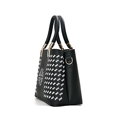 Le donne della moda ricamo PU in pelle Tracolla Messenger Crossbody borse/borsa borse,grigio Wine