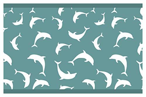 """I-love-Wandtattoo b-10042 Kinderzimmer Bordüre """"Delfine"""" Tiermotiv Unterwasserwelt Tapete Kinder"""
