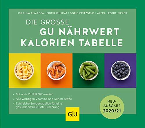 Nährwert-Kalorien-Tabelle, Die große GU: Neuausgabe 2020/21 (GU Tabellenwerk Gesundheit)