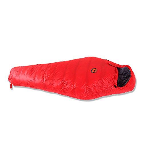 Vitalite-professional Portable 3–4 saisons Sac de couchage momie Cordon de serrage Capuche et col pour le camping la randonnée et extérieur, Left zipper