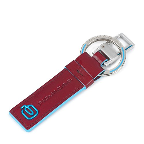 Piquadro PC3753B2/R Blue Square Portachiavi, Rosso
