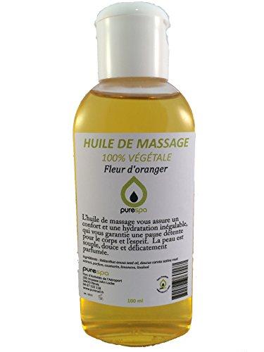 Huile de massage végétale parfumé senteur FLEUR D'ORANGER -100ml, Offre Découverte