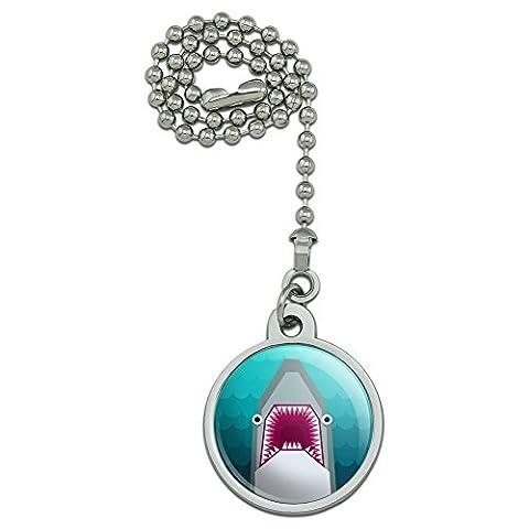 géométrique Requin bleu ventilateur de plafond et chaîne de Tirette pour luminaire