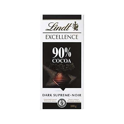 Lindt Excellence 90% Cocoa Dark Supreme Noir Chocolate Bar 100 Grams