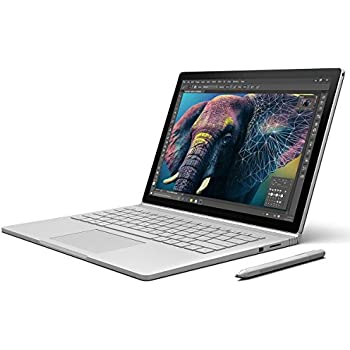 "Microsoft CS5-00010 Portatile Surface Book, 13.5"", Intel Core i7, 8 GB RAM, 256 GB SSD, Intel HD Graphics 520 + NVIDIA GeForce, Windows 10 Pro, Argento [Germania]"