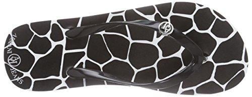 Armani JeansC55F732 - Sandali a Punta Aperta Donna Nero (Schwarz (NERO - BLACK 12))