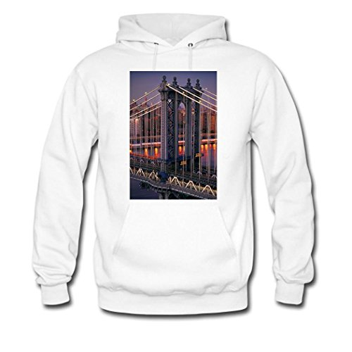 HKdiy Empire State Building Custom Classic Men Hoodie White-1