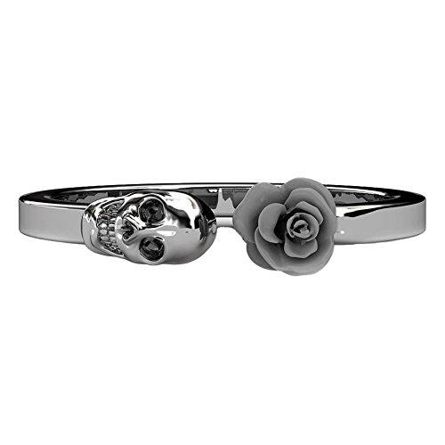 EVBEA Damen Ring Einzigartiges Design mit Totenkopf und Farbener Gothic-Stil Mädchen Totenkopf Ringe Geschenke für Frauen Punk Rock Style Schmuck Zubehör Schmuck Damen