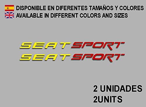 Ecoshirt 1L-H1VX-885H Pegatinas Seat Sport F78 Vinilo