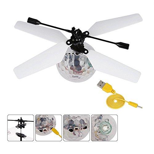 Kormest RC Fliegender Ball mit LED Leuchtung Spielzeug RC Infrarot Induktionshubschrauber Ball für Kinder Geschenke