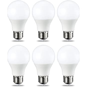 AmazonBasics Bombilla LED Esférica E27, 9W (equivalente a 60W), Blanco Cálido, Regulable - 6 unidades