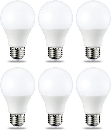 AmazonBasics E27 LED Lampe, 9W (ersetzt 60W), warmweiß, dimmbar - 6er-Pack