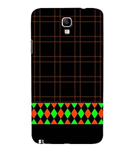 Diamond Design 3D Hard Polycarbonate Designer Back Case Cover for Samsung Galaxy Note 3 Neo N7505