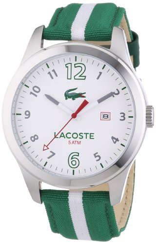 Lacoste Auckland – Quartz Watch For Men With Nylon Strap, Green