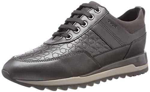 Geox Women's D Tabelya B Low Top Sneakers, (Gun C1357), 5 UK