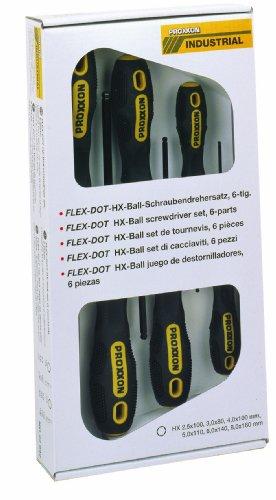 Proxxon 22642 FLEX-DOT Satz Schraubendreher Innensechskant HEX 6tlg. HX2,5-HX8 -