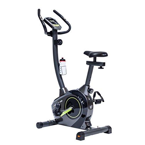 TechFit B380 Magnetisches Fitness Fahrrad Ergometer - Cardio - Fitnessfahrrad mit einstellbarem Sattel, Puls-Sensoren und LCDMonitor. Resistenter Heimtrainer für die perfekte Figur.