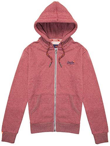 f93667620dd954 Superdry Sweatshirts and Hoodies Superdry Orange Label Zip Hoodie Darkest  Red Feeder Stripe XL
