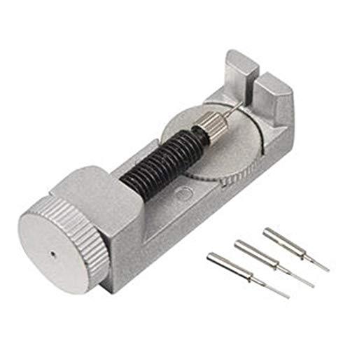 Reparaturwerkzeug beobachten Uhren Reparatur Werkzeug Satz Uhrenarmband Verbindungsstift Entferner Einstellbarer Satz für Uhrmacher mit 3 zusätzlichen Stiften Geeignet für alle Arten von Uhren