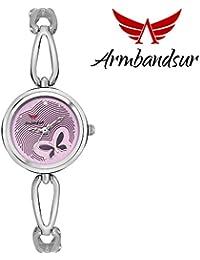 Armbandsur silver case purple dial watch-ABS0056GSP