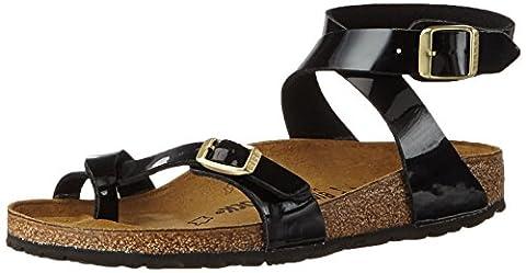 Birkenstock Yara Birko-Flor, Women's Ankle Strap Sandals, Black (Patent Black), 7 UK (40 EU)