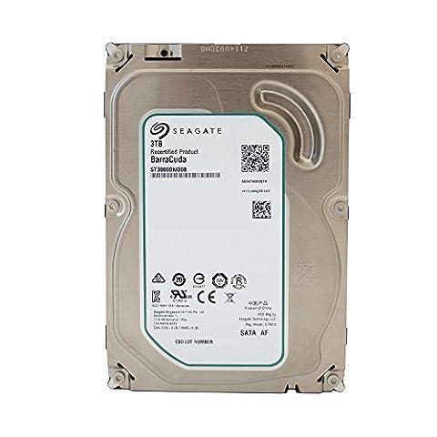 Seagate Barracuda interne Festplatte 3,5 Zoll, 8,9cm, Desktop PC, HDD, NAS, 7200RPM, SATA-600, SATA3, Serial ATA - recertified, Kapazität:3.000GB (3TB), Cache :64MB