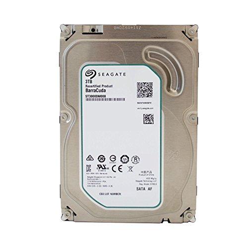 Seagate Barracuda interne Festplatte 3,5 Zoll, 8,9cm, Desktop PC, HDD, NAS, 7200RPM, SATA-600, SATA3, Serial ATA - recertified, Kapazität:3.000GB (3TB), Cache :64MB Cache