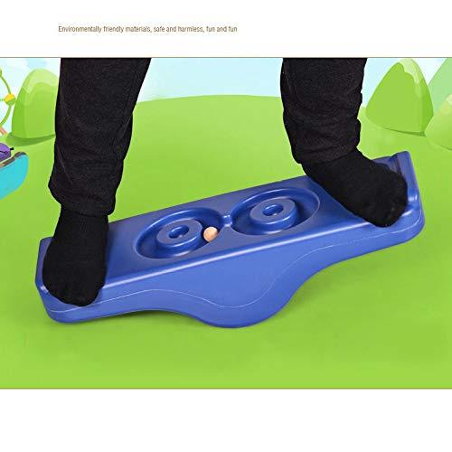 FUYY Balance Board Balance Waldorf Kinderboard Spielzeug Labyrinth Für Kinder Physiotherapie Und Sporttraining,Blue-8type