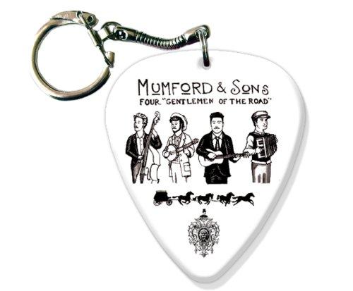 Mumford & Sons BIG Gitarre Pick Schlüsselring Band Plektron