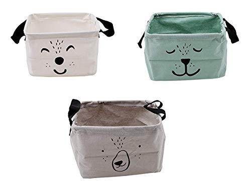 3 Pcs Cartoon Praktische Aufbewahrungs box Korb Kosmetik Koffer Make-up Tasche Spielzeug Ablagebox Desktop Organizer für Haus Kinderzimmer Büro