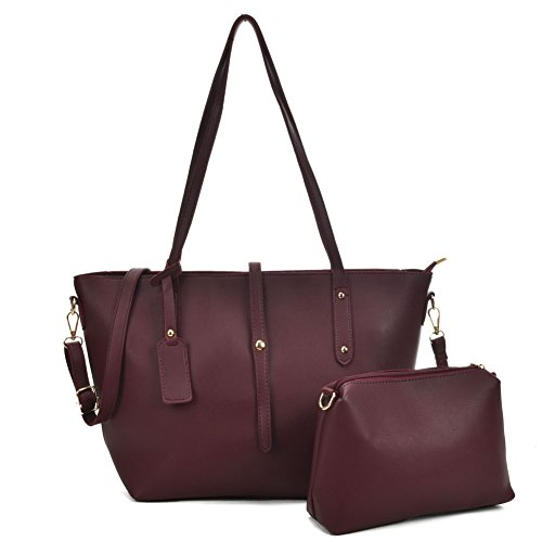 3f72f439ac6e SALLY YOUNG Fashion women Pu Leather Top Handle Bags 2 Pieces Satchel for  Ladies Large Capacity