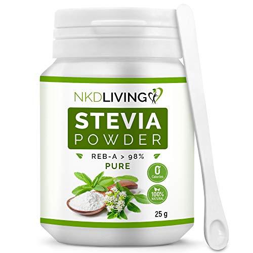 NKD Living 100% Pure Stevia Powder, Reb-A 98% (25g)