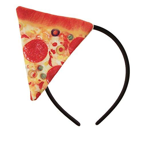 Hellery Neuheit Erwachsene Kinder Pizza Essen Stirnband Kostümfestival Haarschmuck (Kinder Pizza Kostüm)