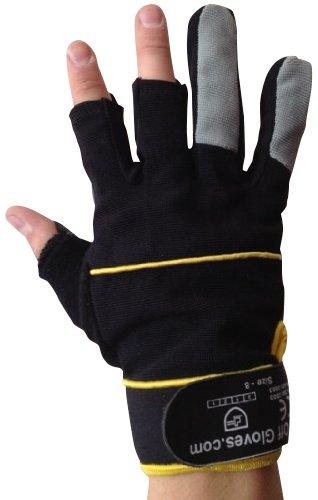 Fingerlose Handschuhe - Arbeiten, Elektriker, Bauherren, Installateure, DIY und Allgemeine Arbeitskleidung. (Extra groß EU 11) - 2