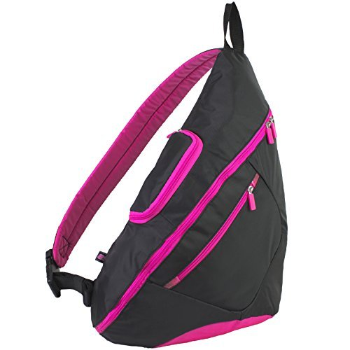 eastsport-crossbody-trapeziod-backpack-hot-pink-black-by-bijoux-international