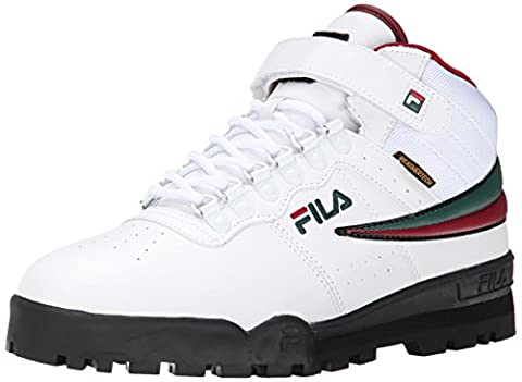 Fila Men's F-13 Weather Tech Hiking Boot, White/Sycamore/Biking Red, 10.5