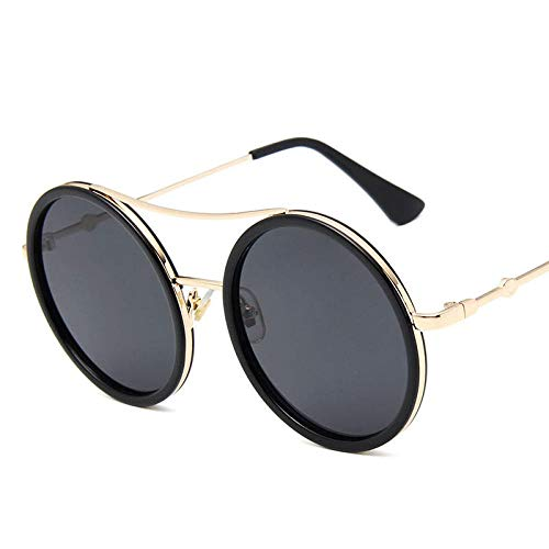 GY-HHHH Klassisches Retro-Outdoor-EssentialSteampunk Retro Runde Marke Designer Brille Männer und Frauen Sonnenbrille kleine Biene glasses_black
