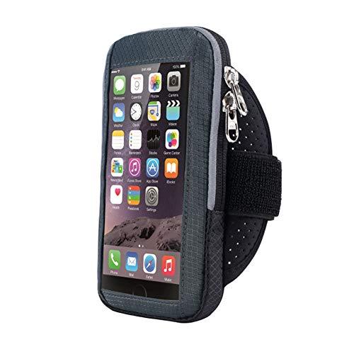 LNIMIKIY Lauf-Armtasche, Handy, Workout, Fitness-Armband, Nylon, für Bergsteigen, Touchscreen, Fitness, Sport, wasserdicht, Radfahren, Joggen