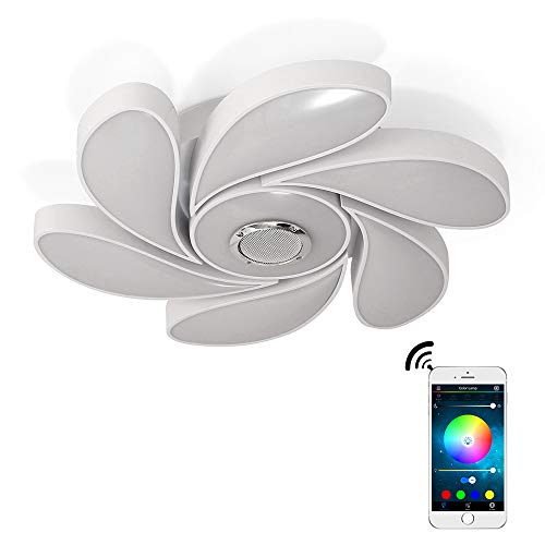 72W LED Plafoniera Musica Altoparlante Bluetooth Con Controllo App Smartphone, Cambio Colore RGB, Montaggio A Filo Per il Soggiorno, Camera Da Letto, Sala Da Pranzo