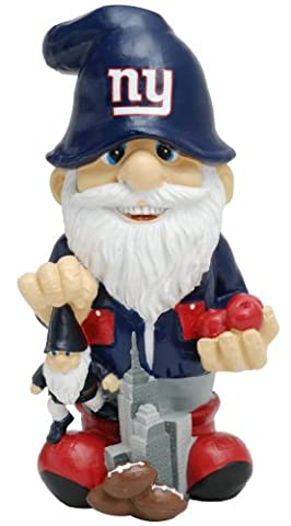 """New York Giants Garden Gnome 11"""" Thematic - Second String"""