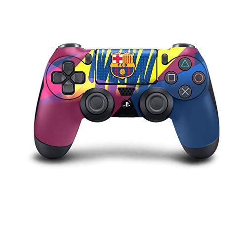 PS4 DualShock Wireless Controller Pro Konsole PlayStation4 Controller mit weichem Griff und Exklusiver individueller Version Skin (PS4-Barcelona) -