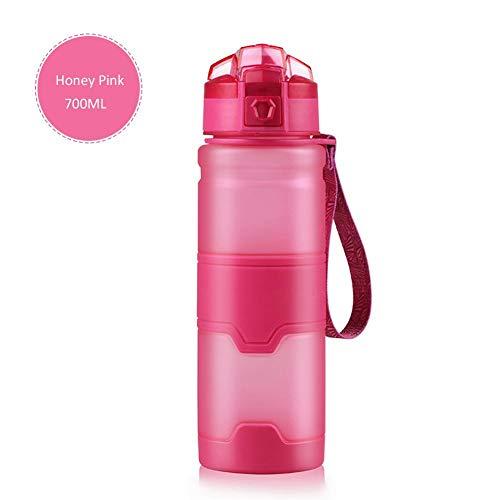 heresell, Borraccia Sportiva da 350 ml/500 ml/700 ml/1000 ml, Senza BPA, in plastica Tritan Ecologica, Riutilizzabile, con Filtro per Bambini, L, 700 ml