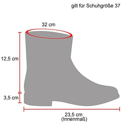 Stiefelparadies Damen Herren Unisex Warm Gefütterte Stiefeletten Outdoor Worker Boots Profilsohle Winterschuhe Camouflage Schuhe Übergrößen Flandell Rosa Gold
