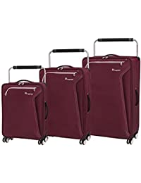 ba94a19b7 it luggage 3 Piece Set of World's Lightest Accent 8 Wheel Super Lightweight Suitcases  Suitcase,