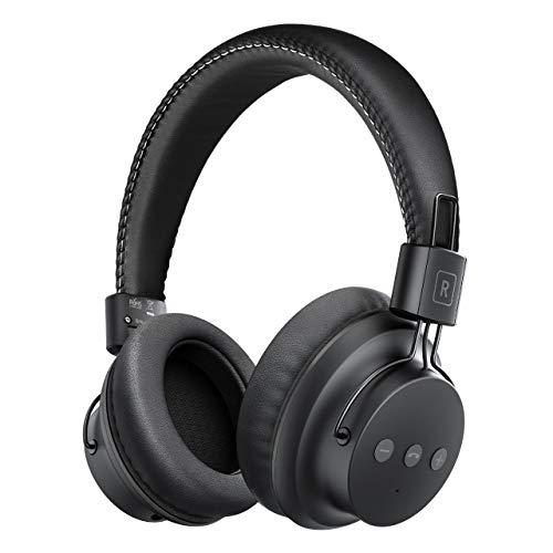 Bluetooth Kopfhörer Over Ear, Mpow Kabellose Kopfhörer mit leichtem Rückstellschaum Ohrpolster & Dual 40mm Treiber, 20 Stunden Spielzeit, Perfekt Bass, 3,5 mm AUX, On-Ear Steuerung