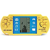 Retro PSP Portable Tetris Handheld Tetris Kids Electronic Brick Games Toys Built-in 23 games 2 AAA batteries are used for more than 1 month good gift for kids(GM01014YellowUK)
