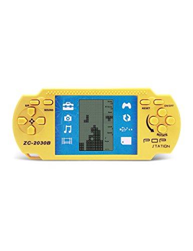 Tragbares elektronisches Handheld-Gerät, Retro PSP, Tetris, 23 Spiele integriert, Spielzeug, 2AAA Batterien halten mehr als 1 Monat, gutes Geschenk für Kinder