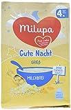 Milupa Gute Nacht Milchbrei Grießbrei ab dem 4 Monat, 7er Pack (7 x 200 g)